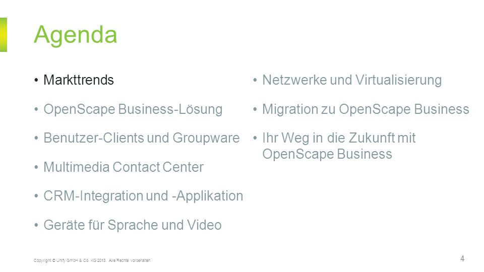 Agenda Markttrends Netzwerke und Virtualisierung