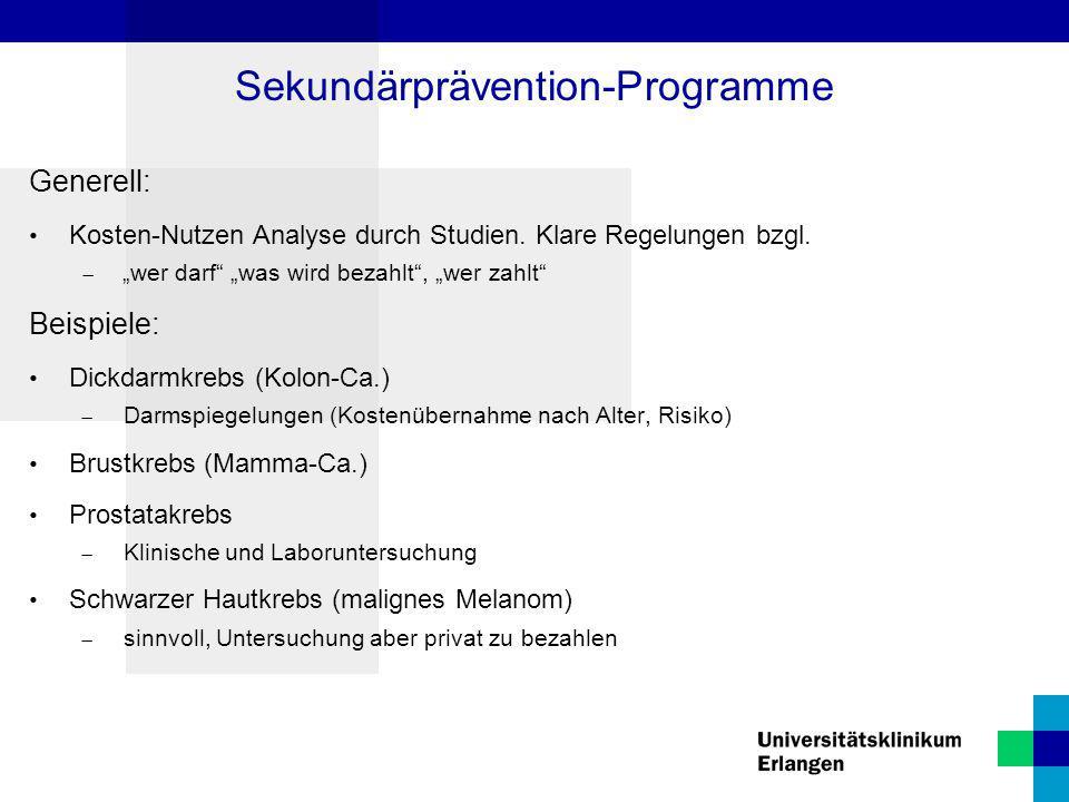 Sekundärprävention-Programme