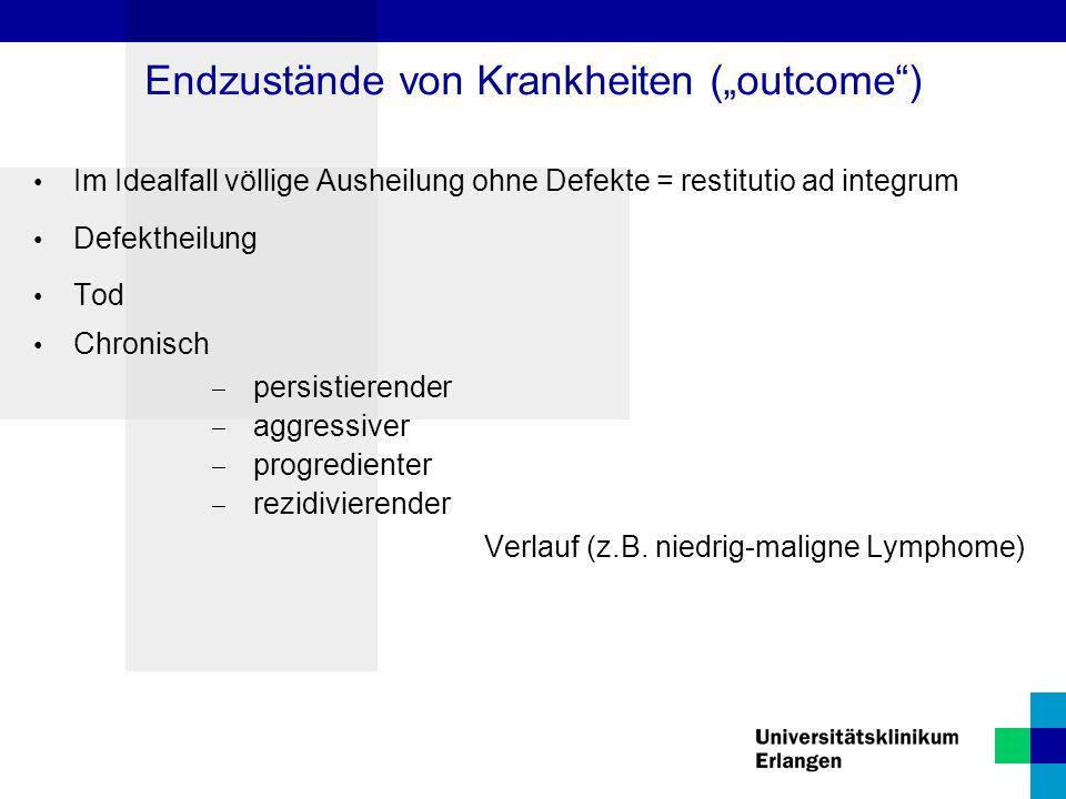 """Endzustände von Krankheiten (""""outcome )"""