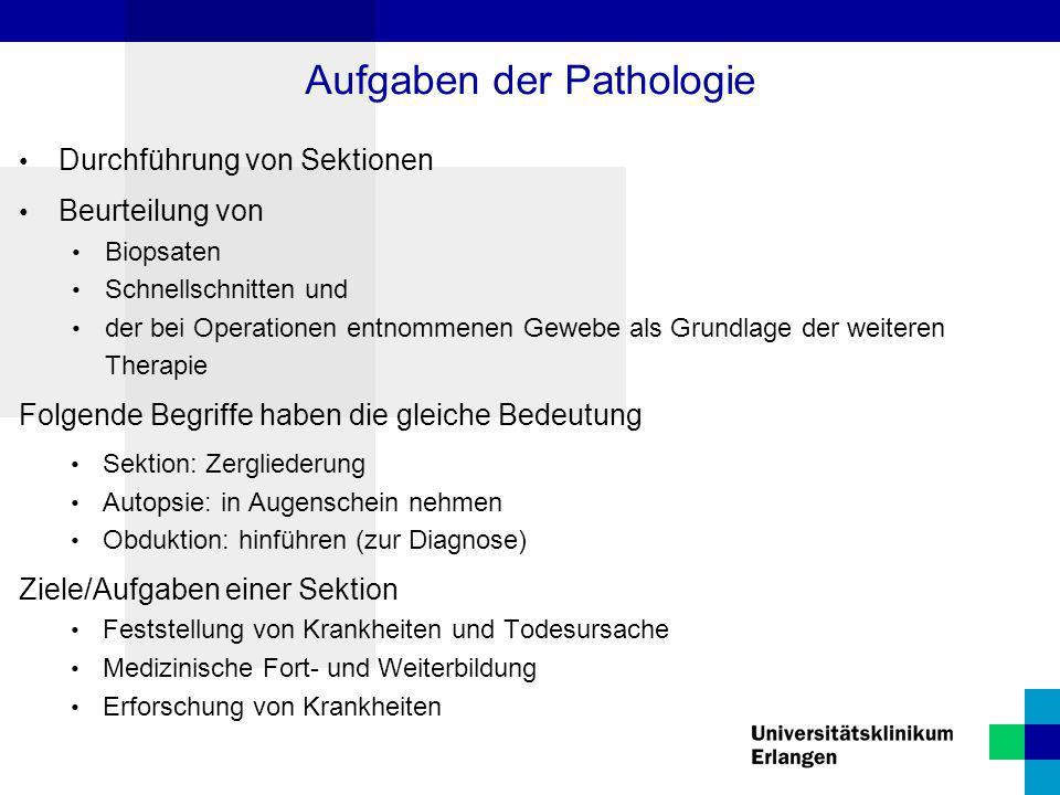Aufgaben der Pathologie