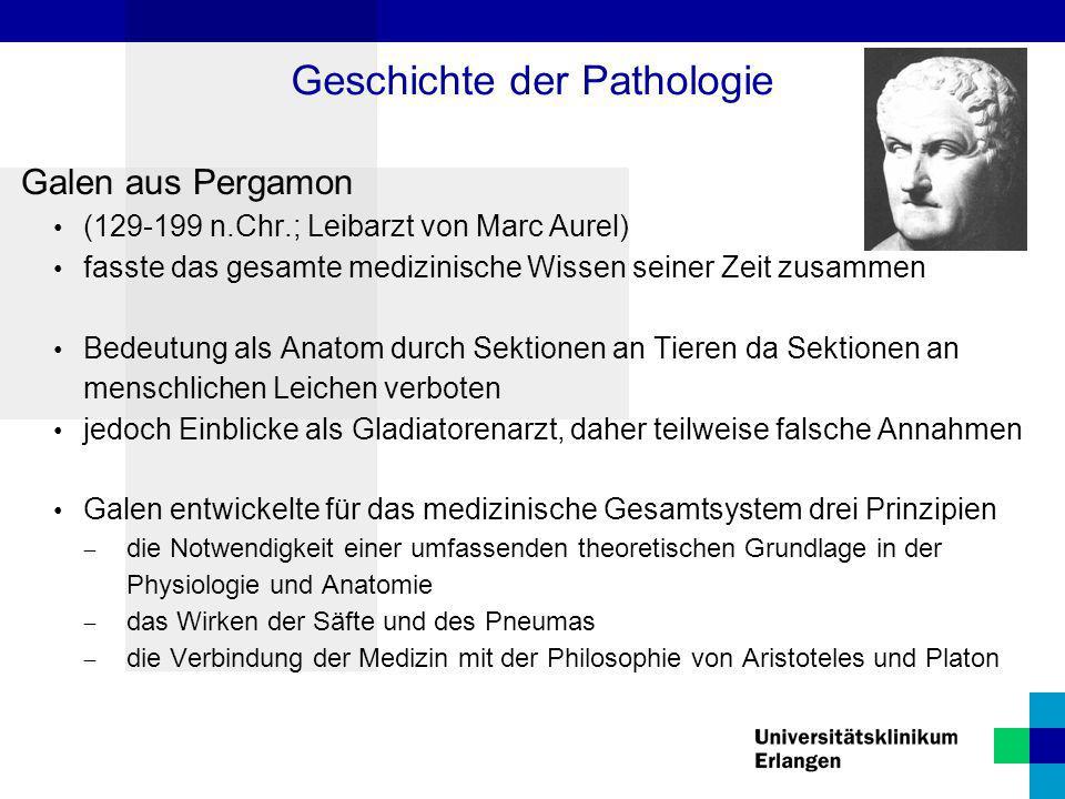 Geschichte der Pathologie