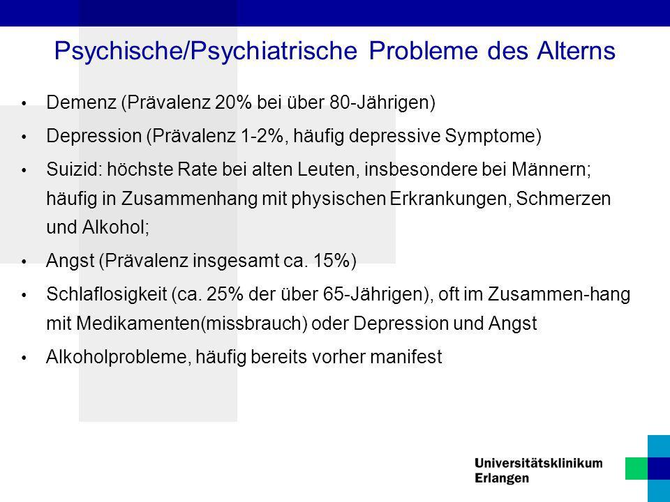 Psychische/Psychiatrische Probleme des Alterns
