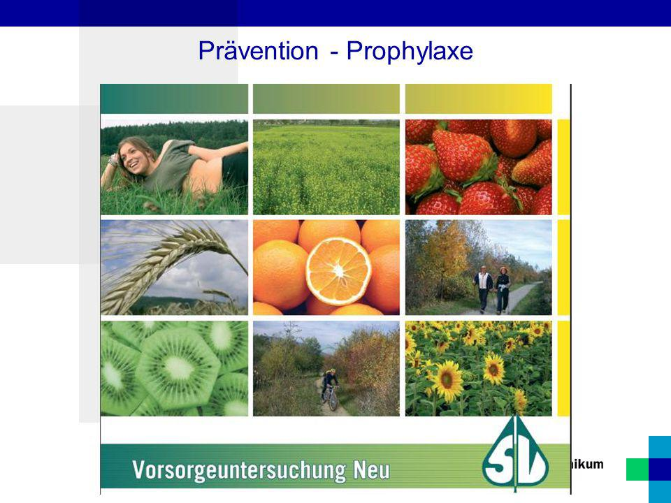 Prävention - Prophylaxe
