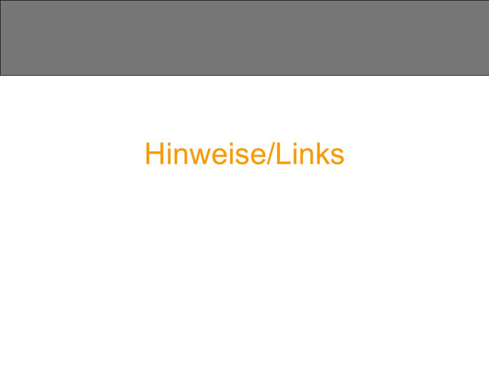 Hinweise/Links