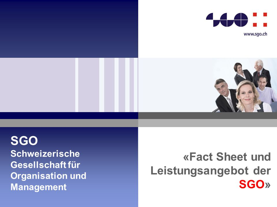 «Fact Sheet und Leistungsangebot der SGO»
