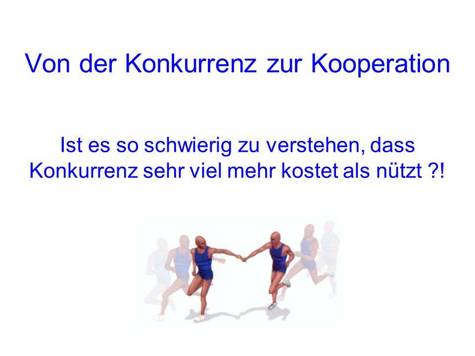 Von der Konkurrenz zur Kooperation