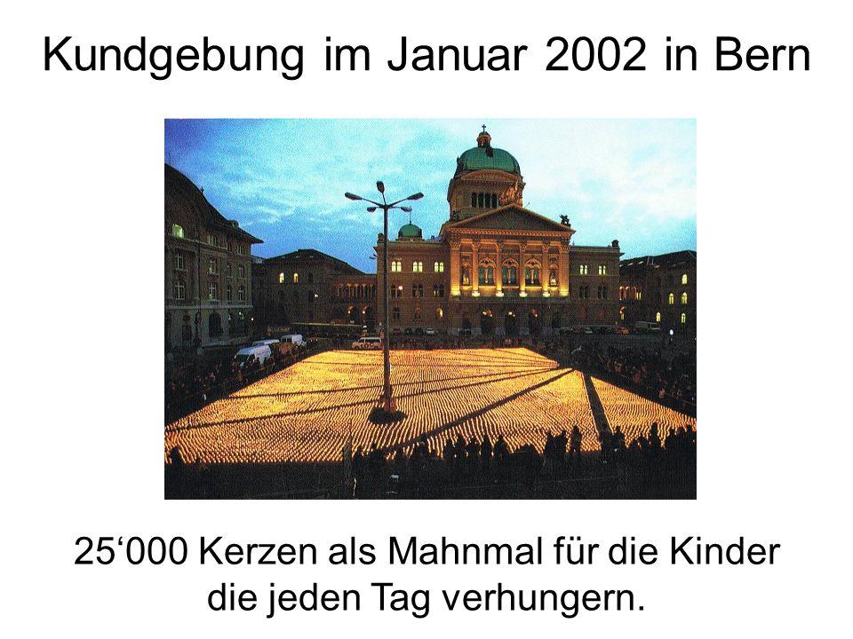 Kundgebung im Januar 2002 in Bern