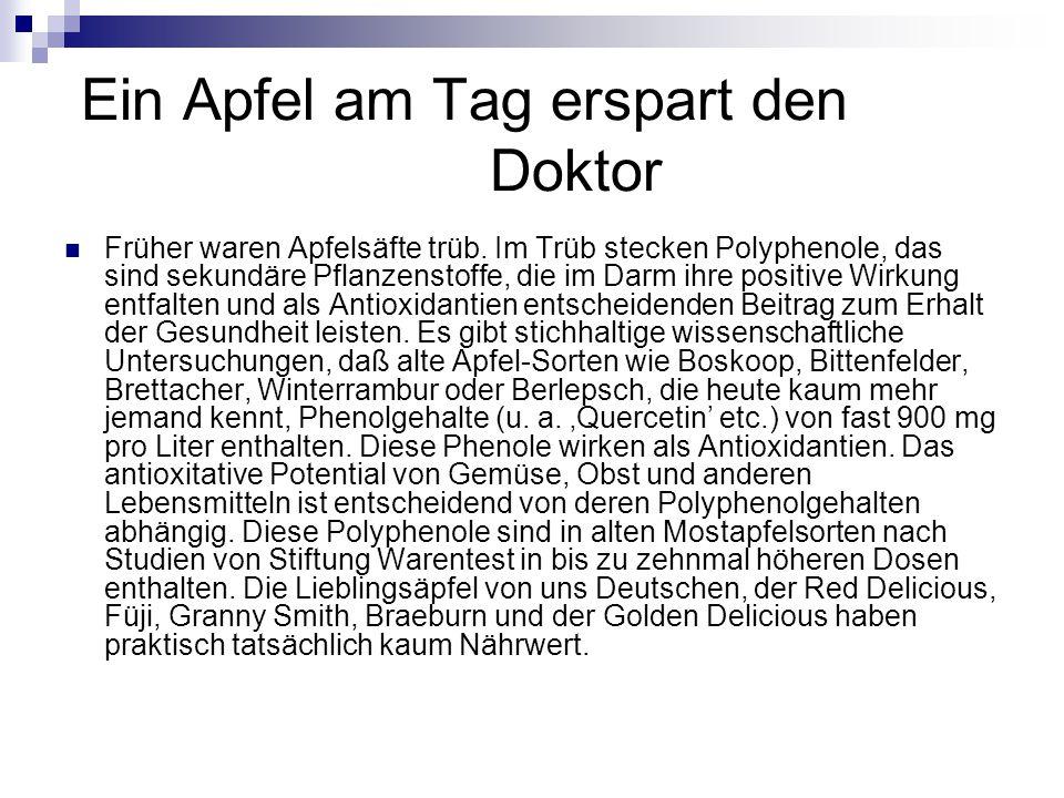 Ein Apfel am Tag erspart den Doktor