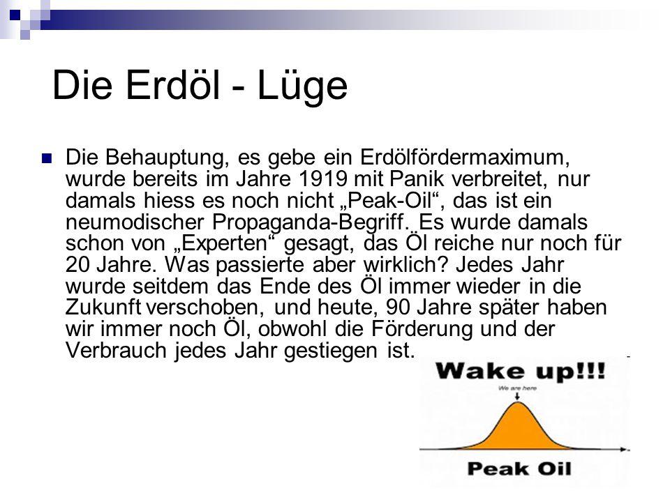 Die Erdöl - Lüge