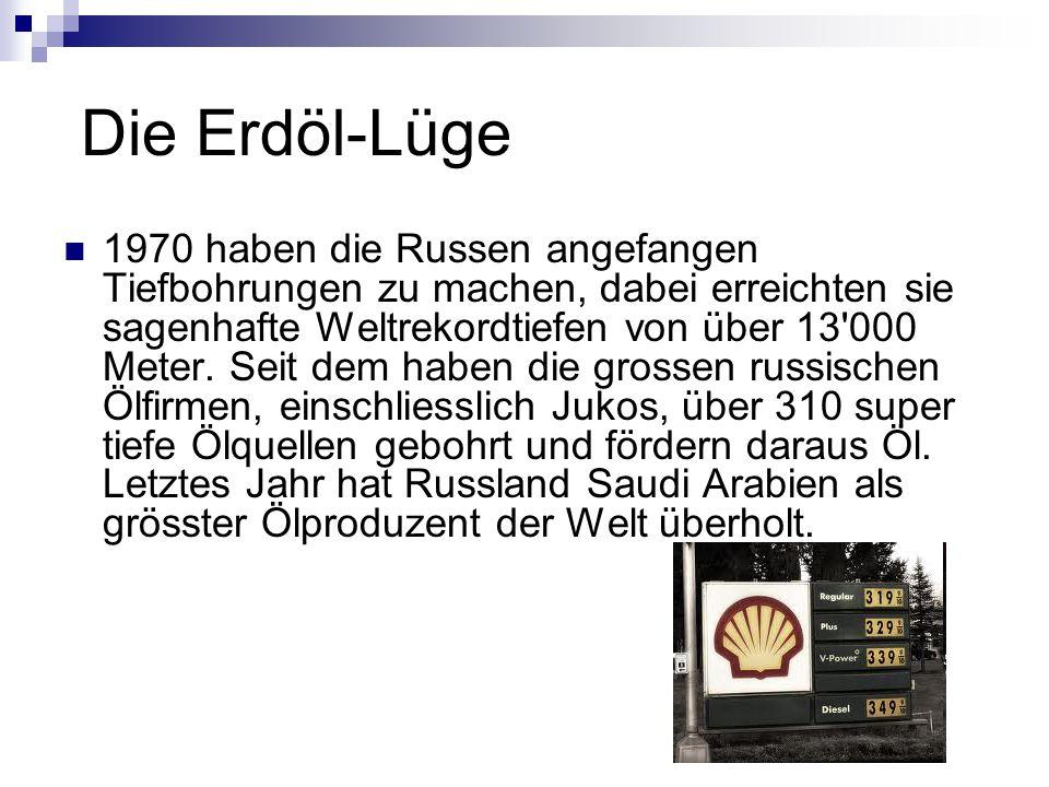 Die Erdöl-Lüge