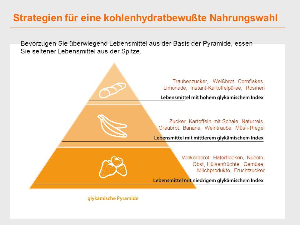 Strategien für eine kohlenhydratbewußte Nahrungswahl