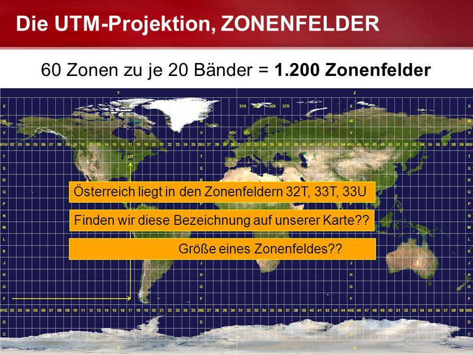 Die UTM-Projektion, ZONENFELDER
