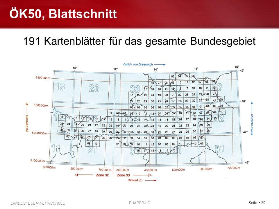 191 Kartenblätter für das gesamte Bundesgebiet