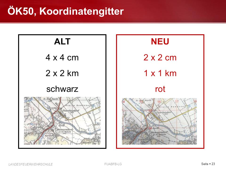 ÖK50, Koordinatengitter ALT 4 x 4 cm 2 x 2 km schwarz NEU 2 x 2 cm