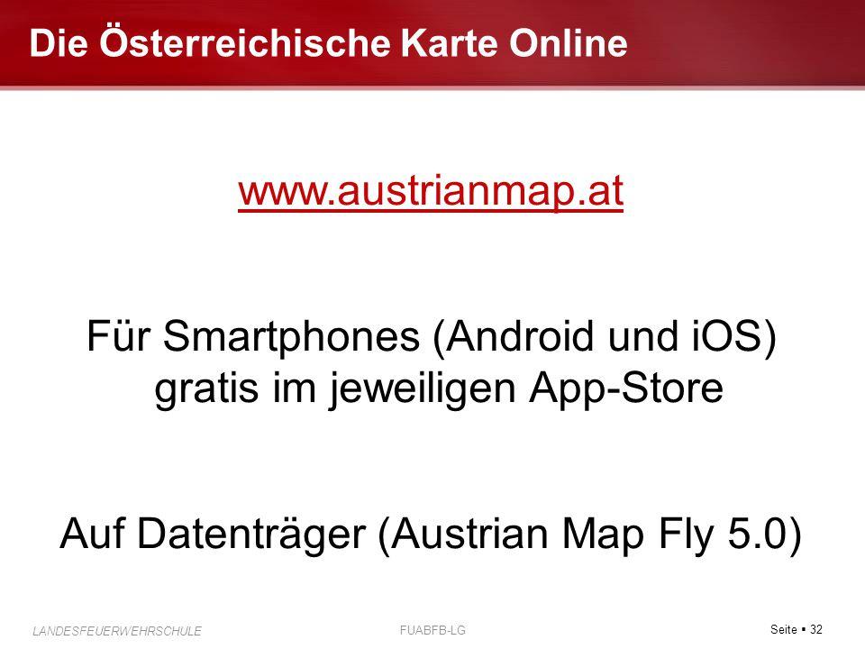 Die Österreichische Karte Online