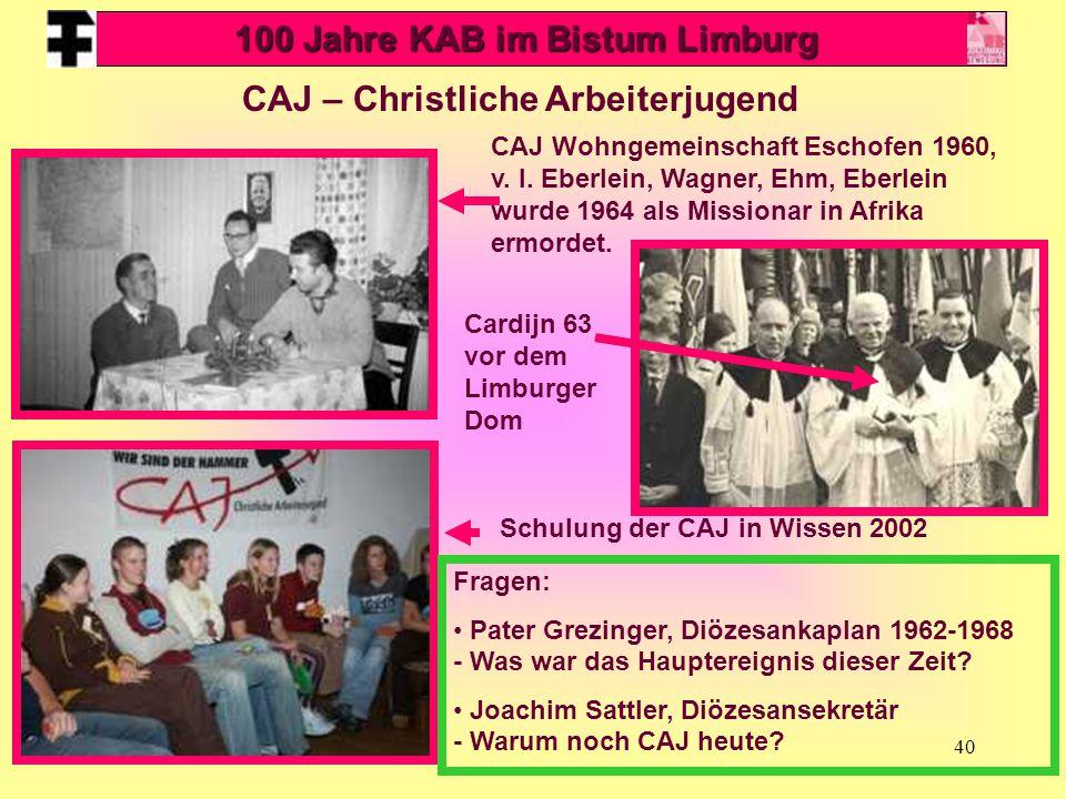 100 Jahre KAB im Bistum Limburg