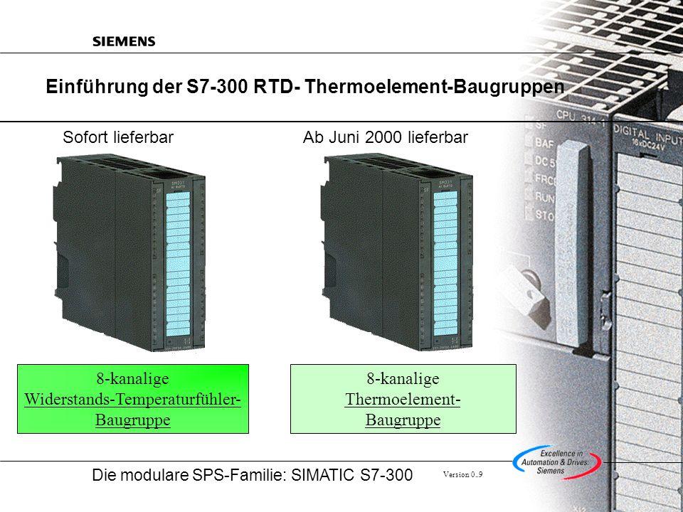 Einführung der S7-300 RTD- Thermoelement-Baugruppen