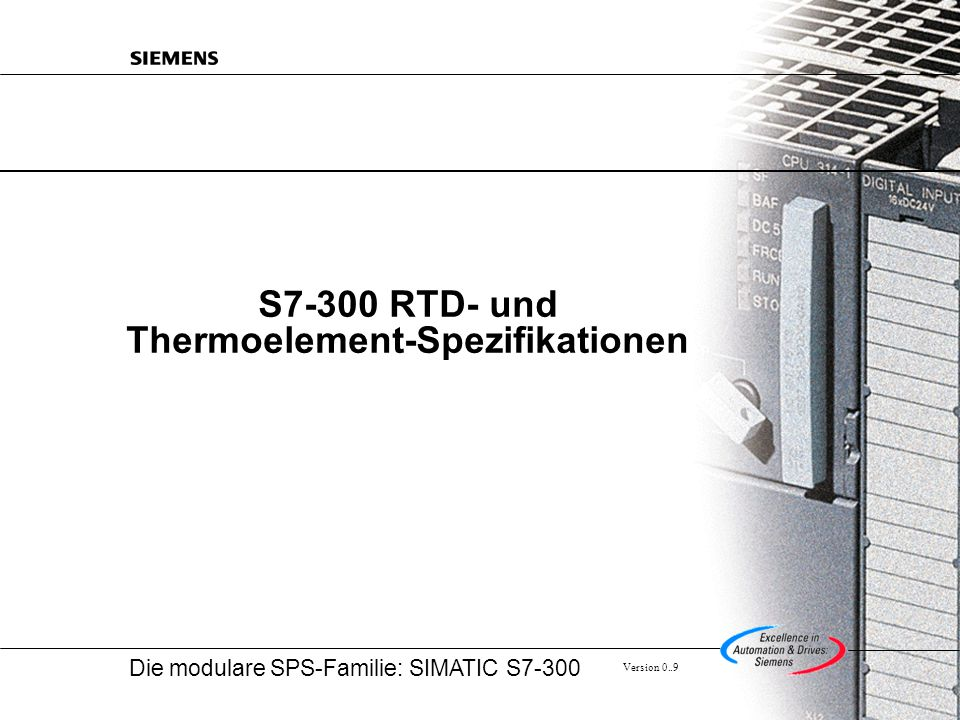 S7-300 RTD- und Thermoelement-Spezifikationen