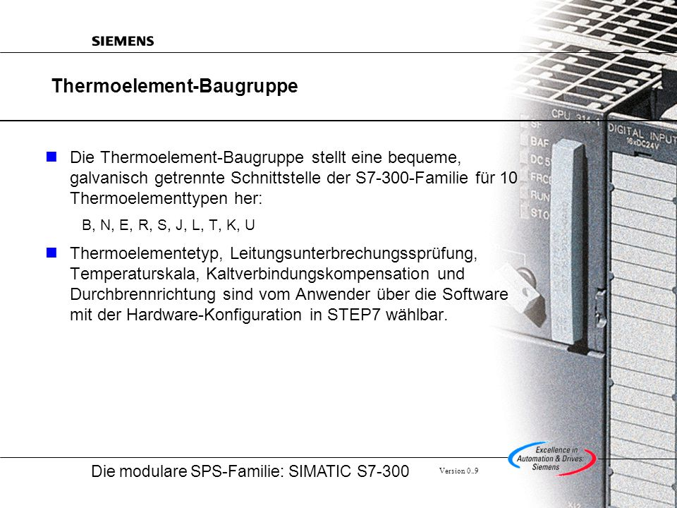 Thermoelement-Baugruppe
