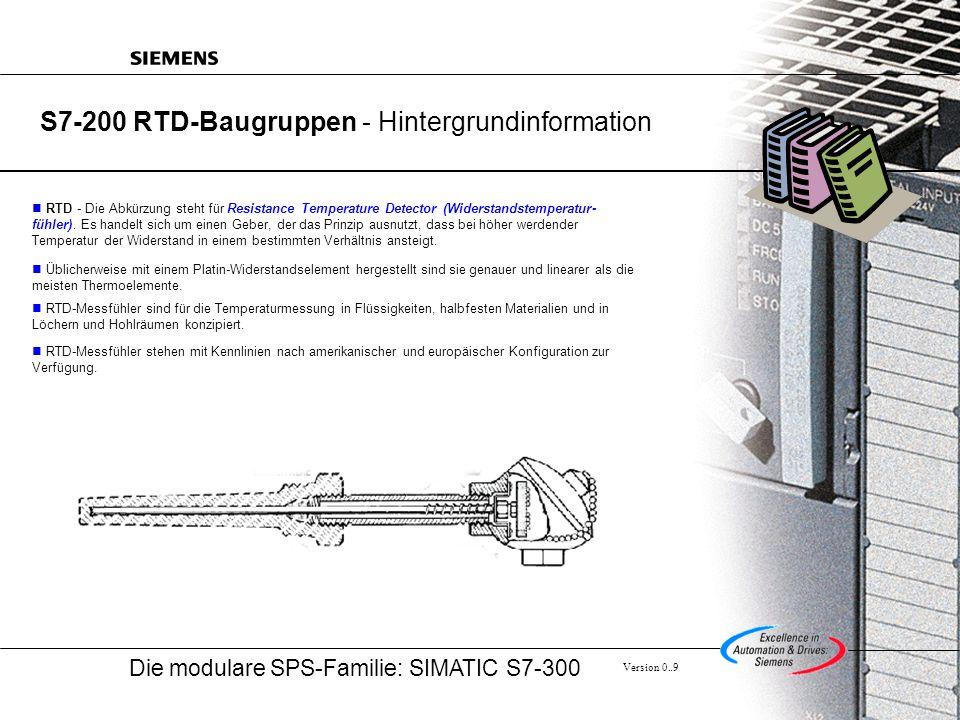 S7-200 RTD-Baugruppen - Hintergrundinformation