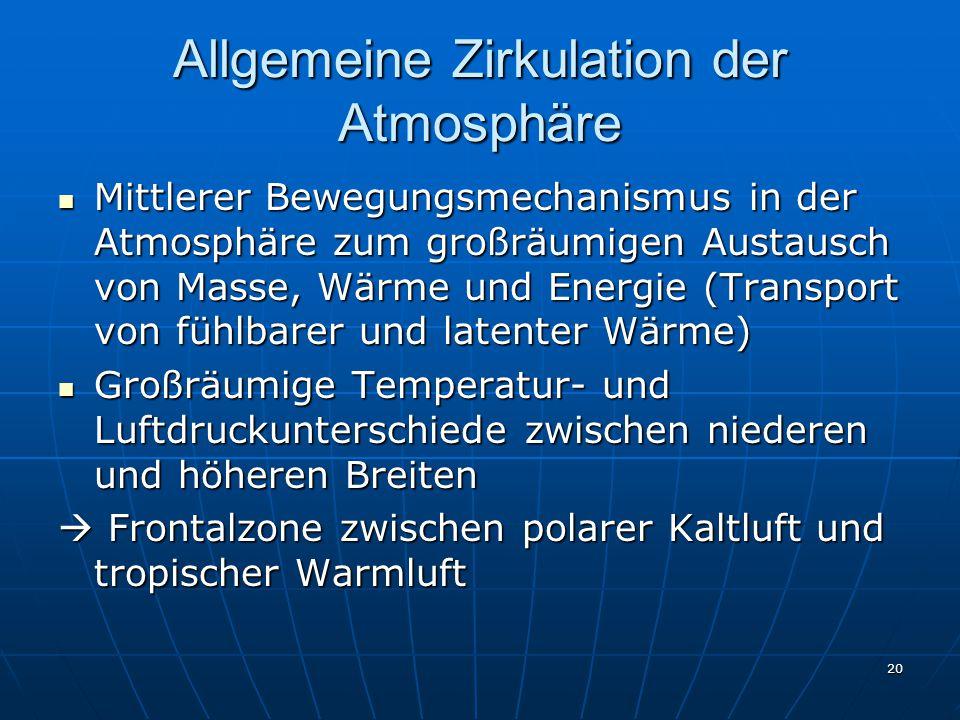 Allgemeine Zirkulation der Atmosphäre