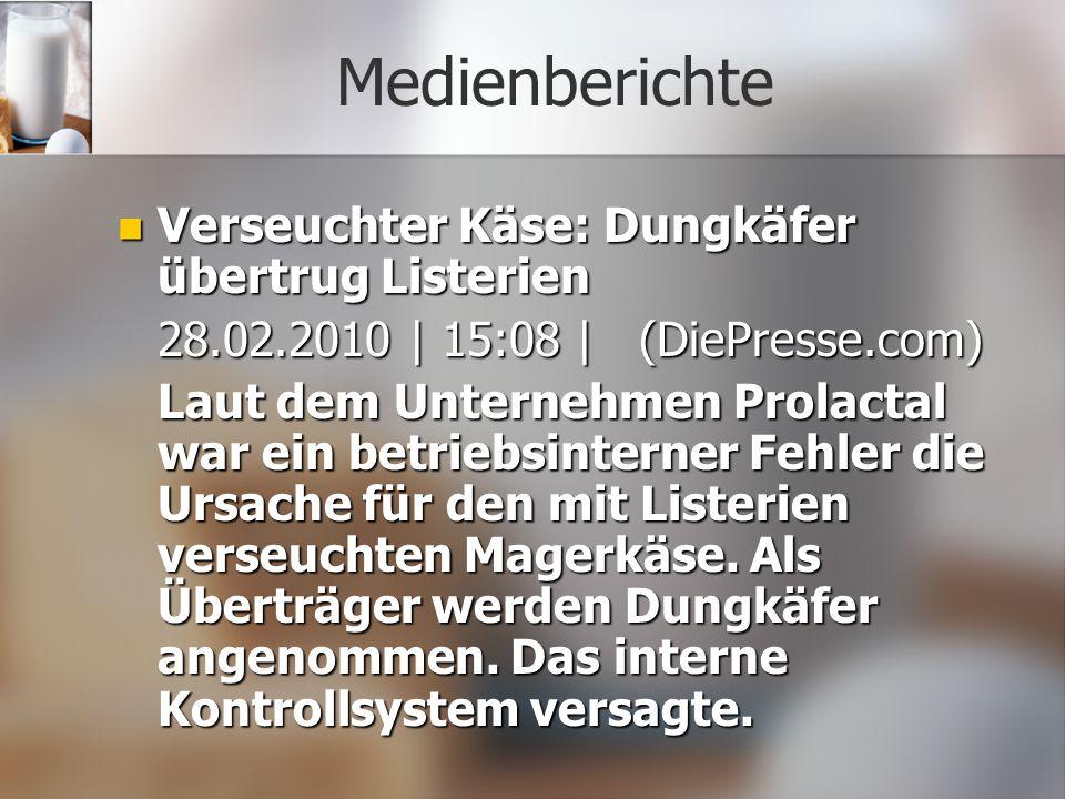 Medienberichte Verseuchter Käse: Dungkäfer übertrug Listerien