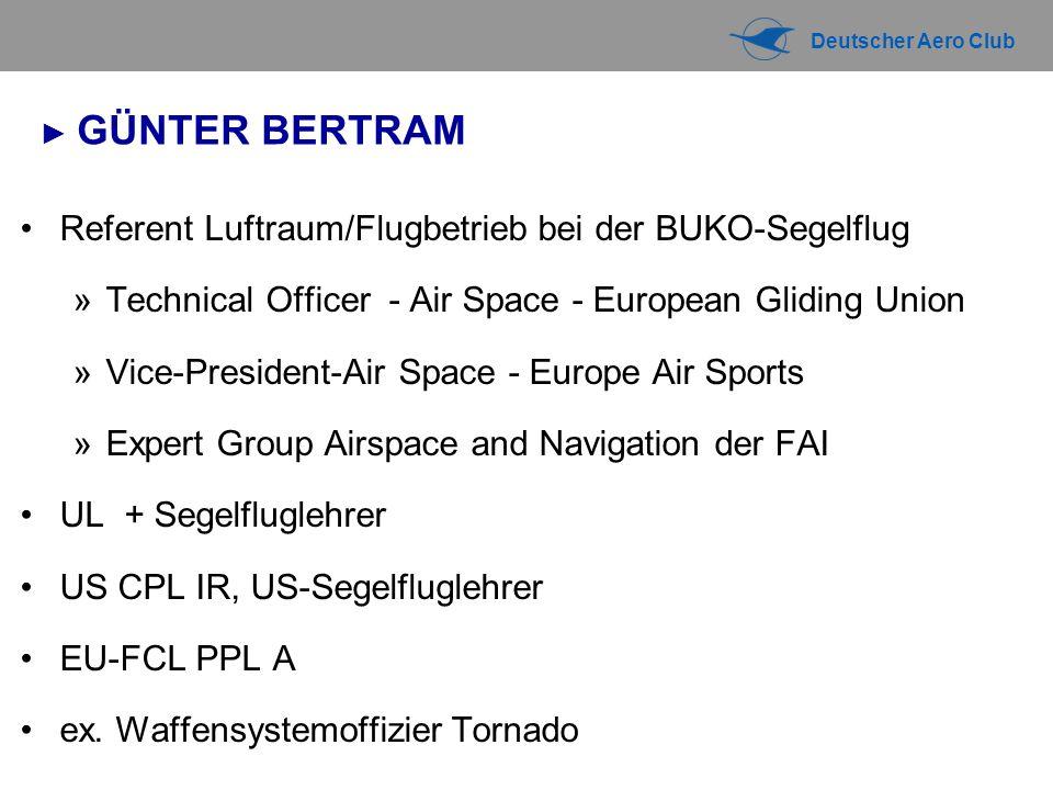 Referent Luftraum/Flugbetrieb bei der BUKO-Segelflug