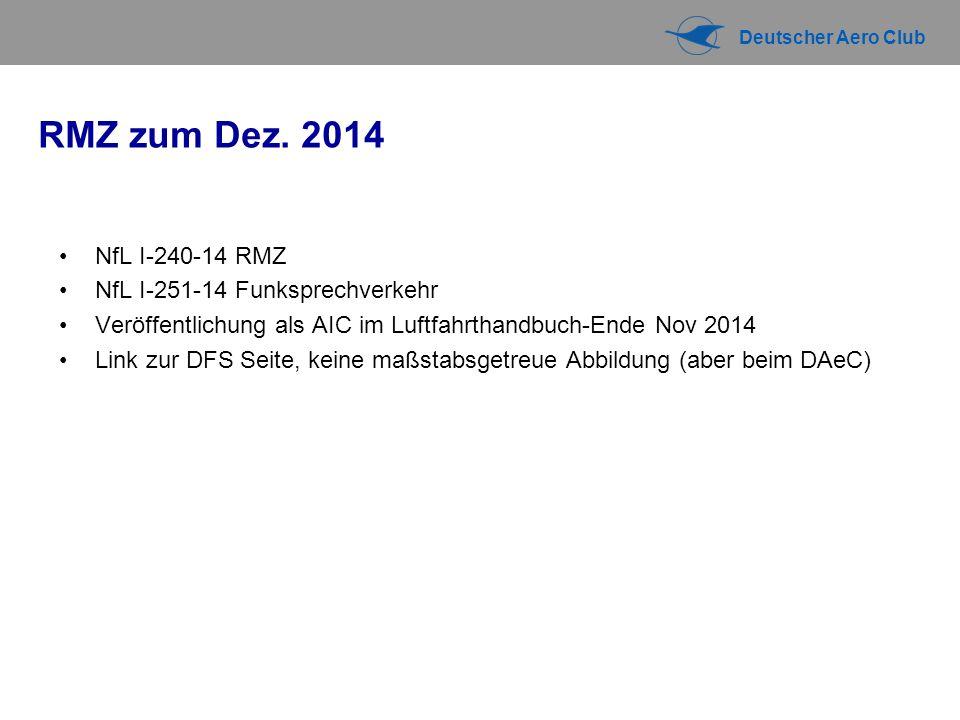 RMZ zum Dez. 2014 NfL I-240-14 RMZ NfL I-251-14 Funksprechverkehr