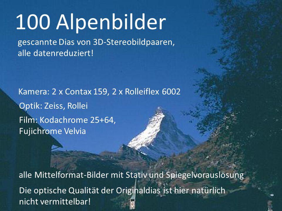 100 Alpenbilder Alpenbilder gescannte Dias von 3D-Stereobildpaaren,
