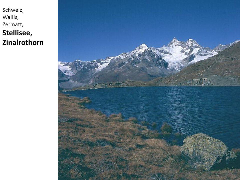 Schweiz, Wallis, Zermatt, Stellisee, Zinalrothorn
