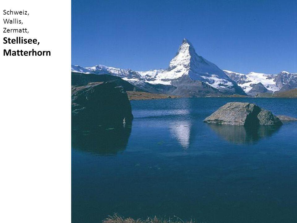 Schweiz, Wallis, Zermatt, Stellisee, Matterhorn