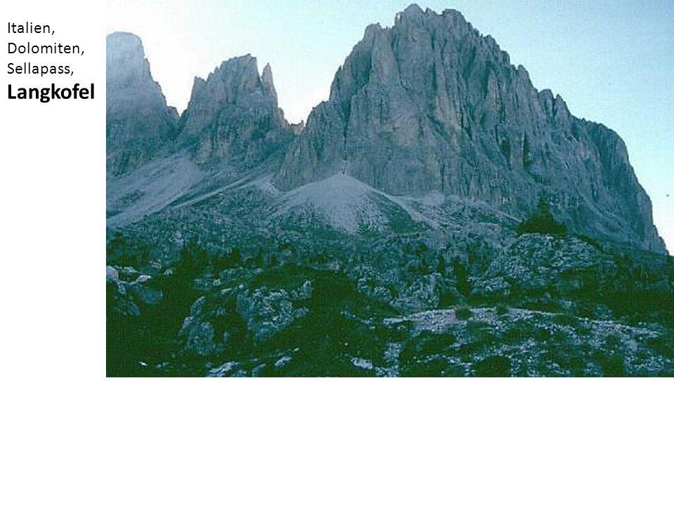 Italien, Dolomiten, Sellapass, Langkofel