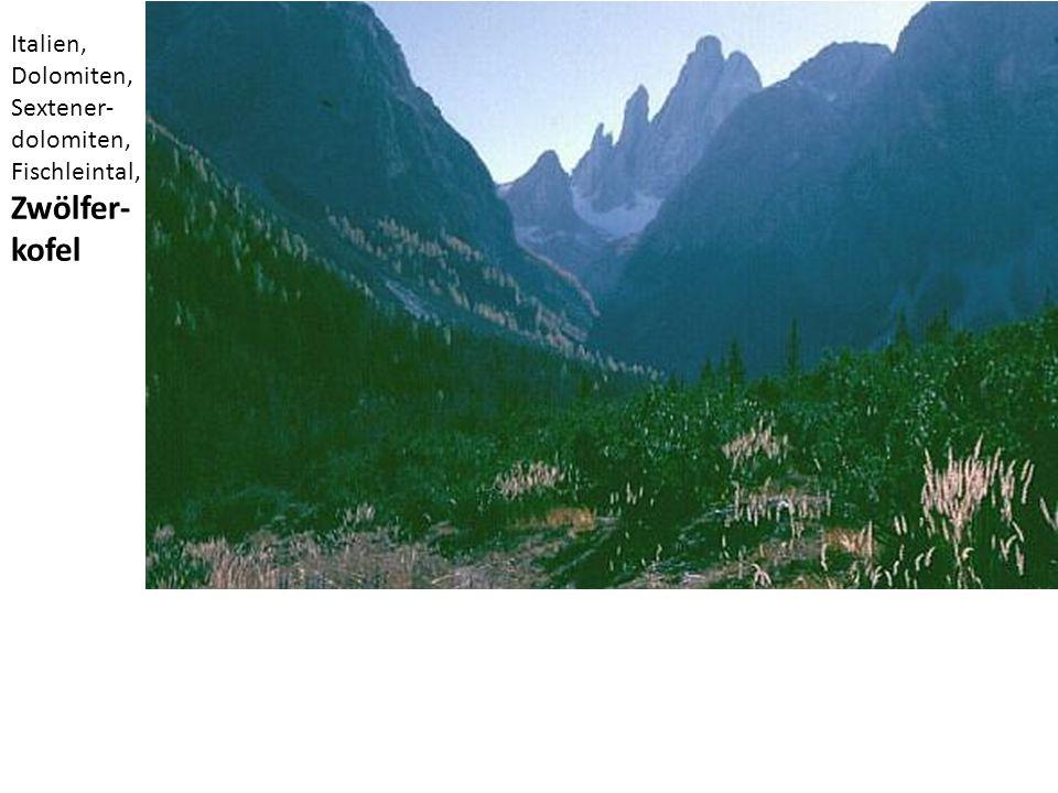 Italien, Dolomiten, Sextener-dolomiten, Fischleintal, Zwölfer-kofel