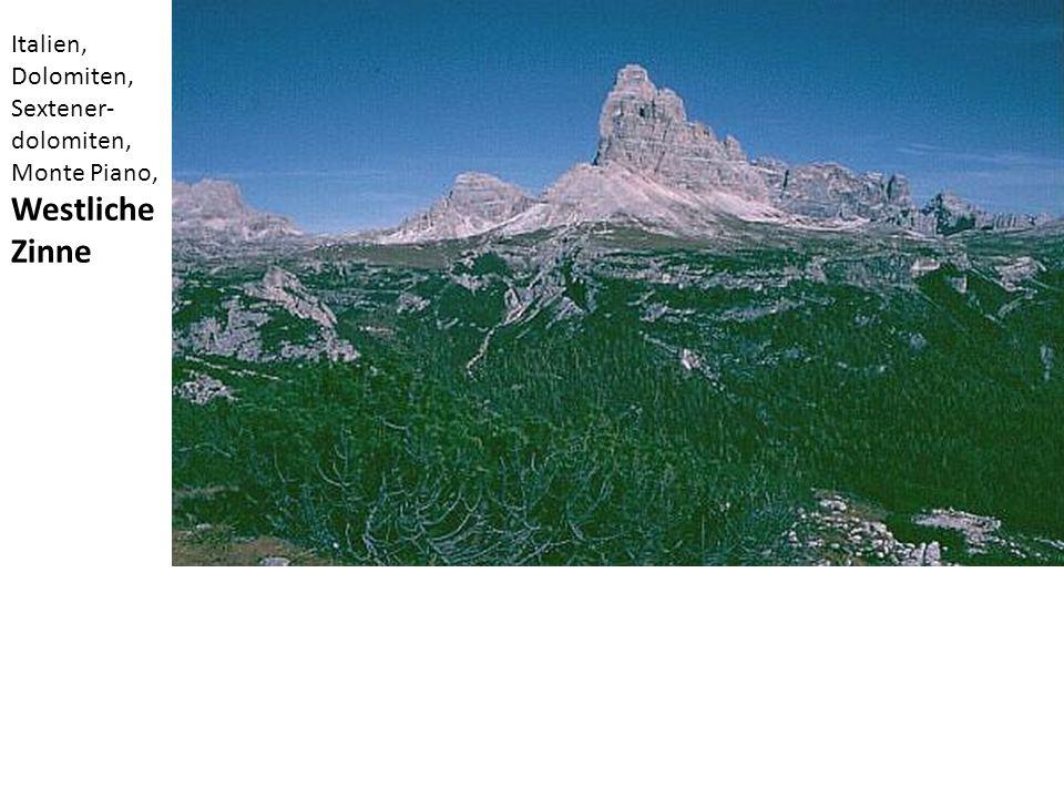 Italien, Dolomiten, Sextener-dolomiten, Monte Piano, Westliche Zinne