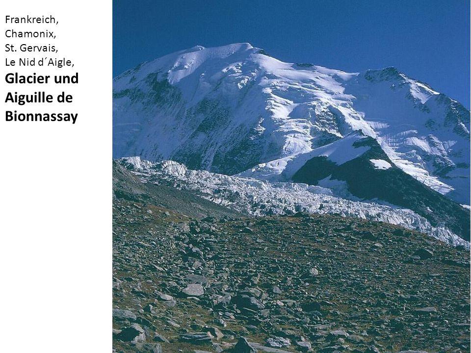 Glacier und Aiguille de Bionnassay