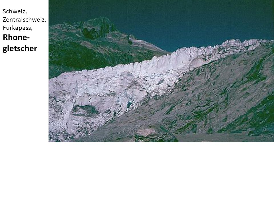 Schweiz, Zentralschweiz, Furkapass, Rhone-gletscher