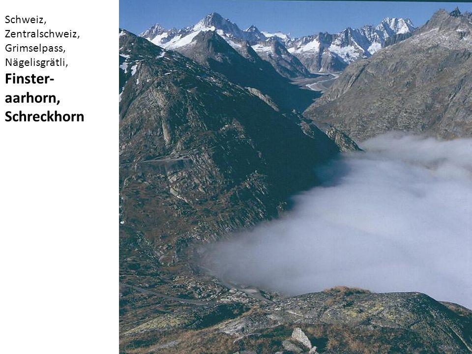 Finster-aarhorn, Schreckhorn Schweiz, Zentralschweiz, Grimselpass,