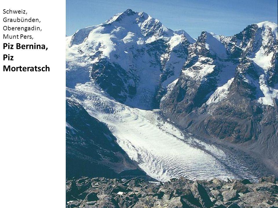 Piz Bernina, Piz Morteratsch Schweiz, Graubünden, Oberengadin,