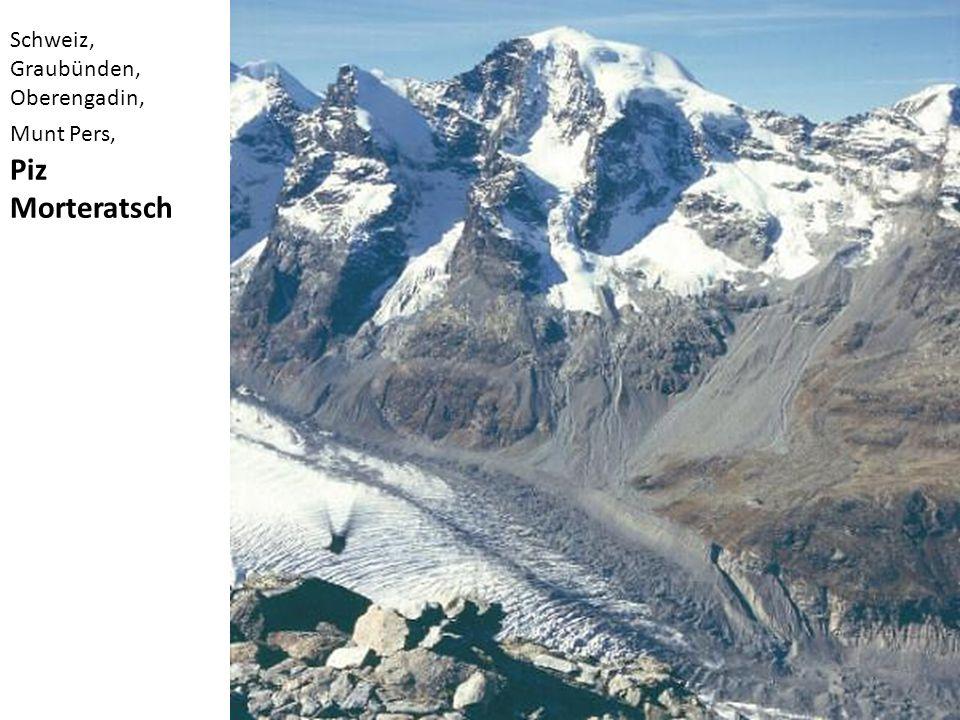 Schweiz, Graubünden, Oberengadin, Munt Pers, Piz Morteratsch