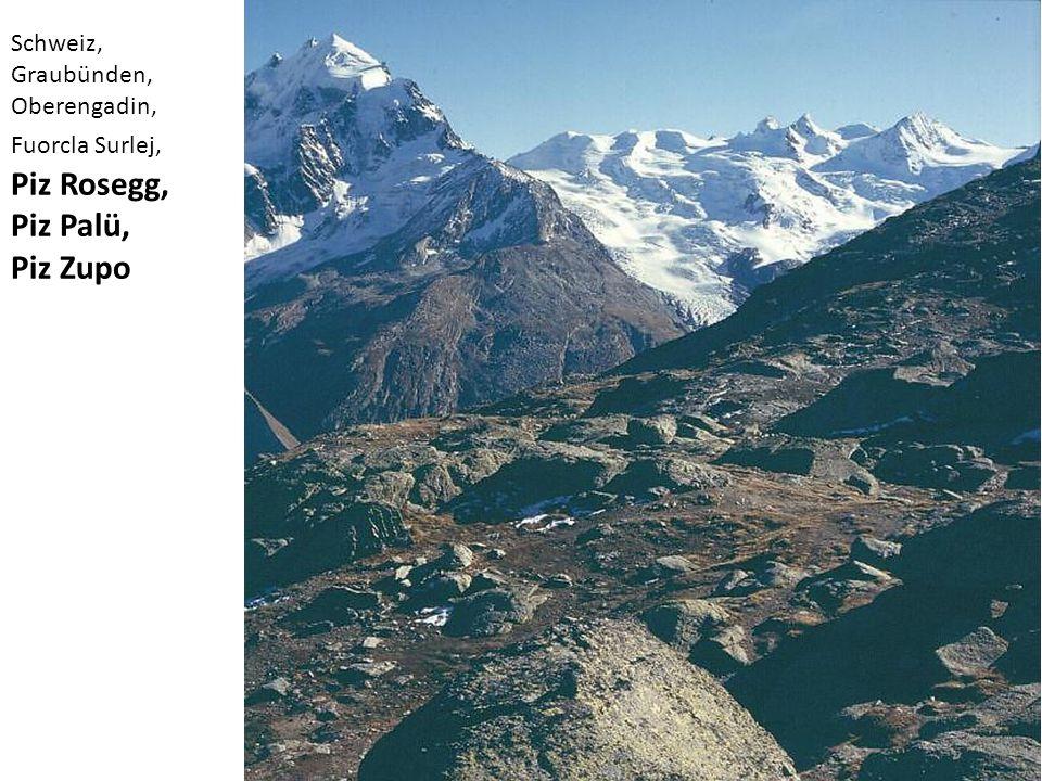 Piz Rosegg, Piz Palü, Piz Zupo Schweiz, Graubünden, Oberengadin,