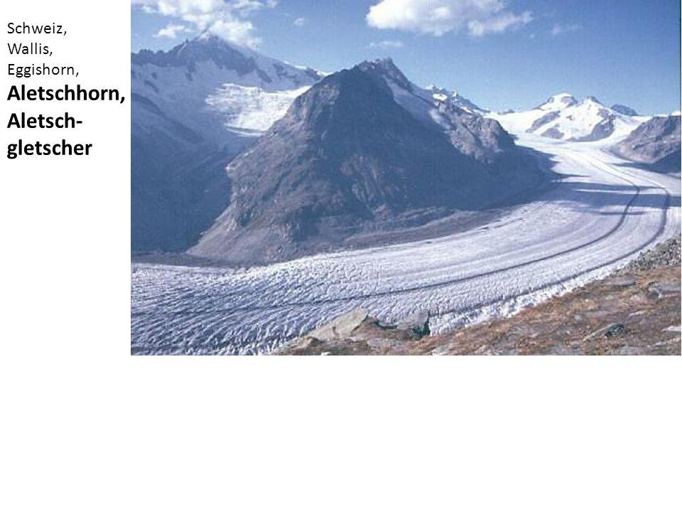 Schweiz, Wallis, Eggishorn, Aletschhorn, Aletsch-gletscher
