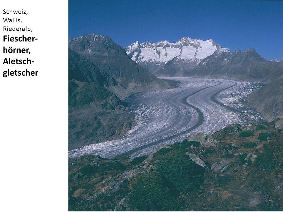 Schweiz, Wallis, Riederalp, Fiescher-hörner, Aletsch-gletscher