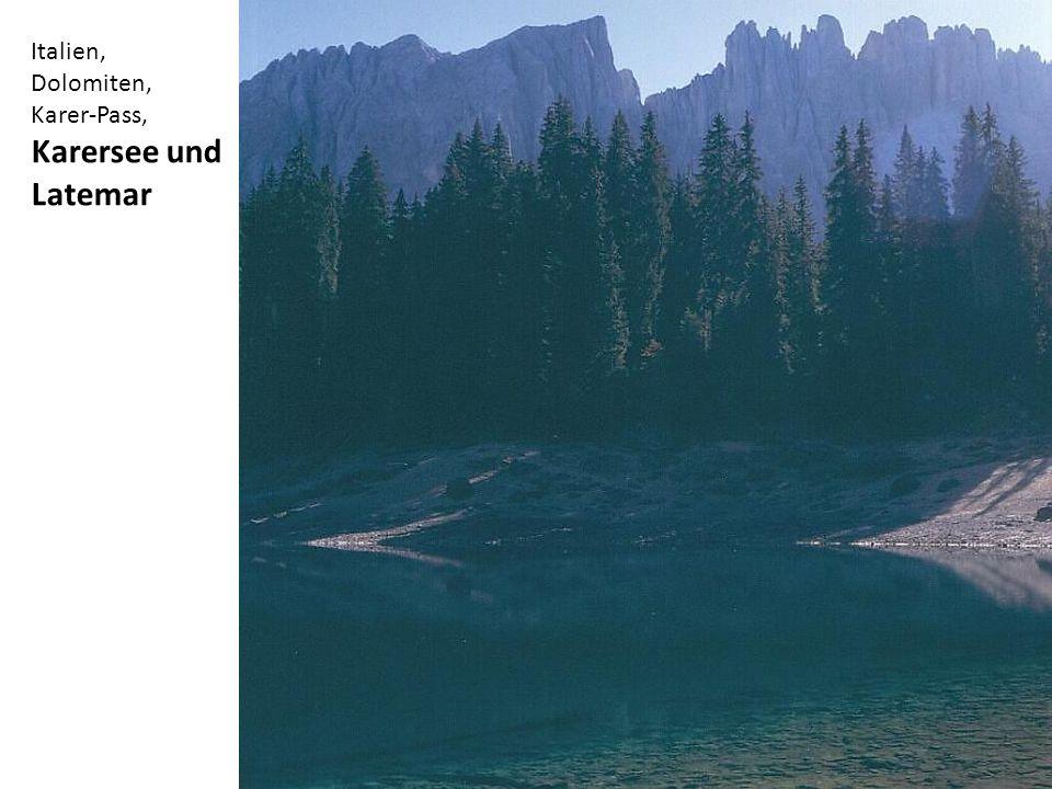 Italien, Dolomiten, Karer-Pass, Karersee und Latemar
