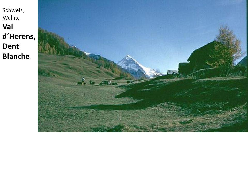Schweiz, Wallis, Val d´Herens, Dent Blanche