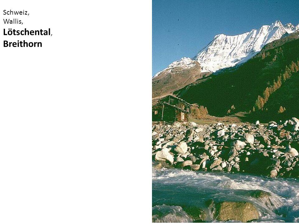 Schweiz, Wallis, Lötschental, Breithorn