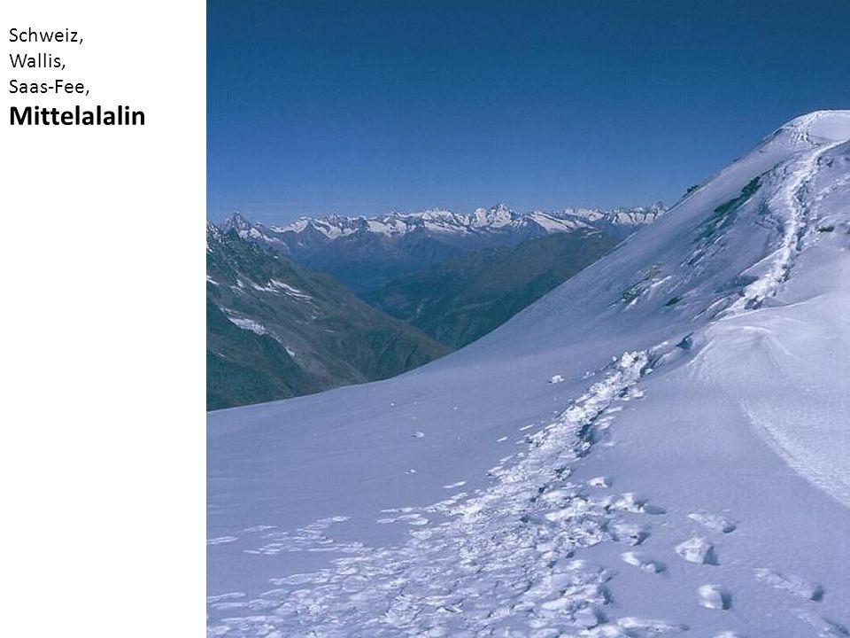 Schweiz, Wallis, Saas-Fee, Mittelalalin