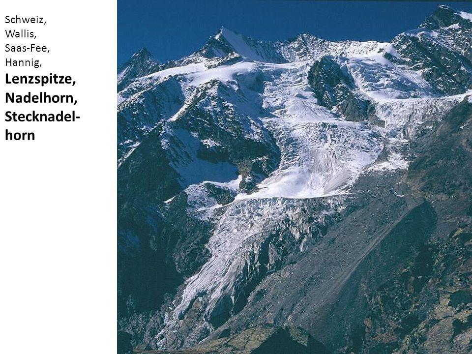 Lenzspitze, Nadelhorn, Stecknadel-horn Schweiz, Wallis, Saas-Fee,