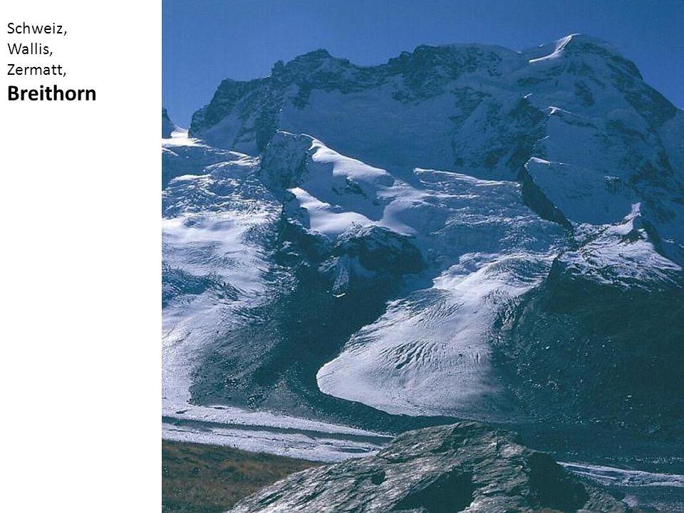 Schweiz, Wallis, Zermatt, Breithorn