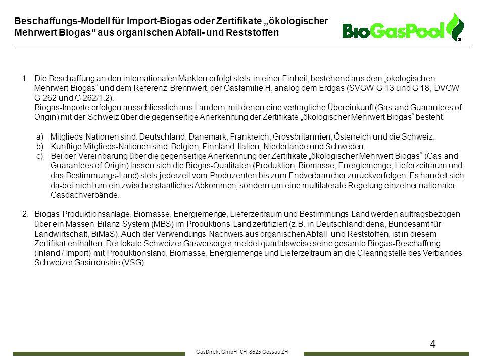 GasDirekt GmbH CH-8625 Gossau ZH