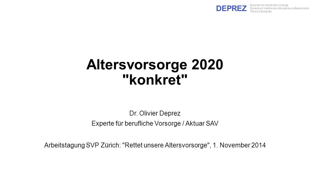 Altersvorsorge 2020 konkret